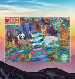 EEBOO PLANET EARTH PUZZLE 100 PC