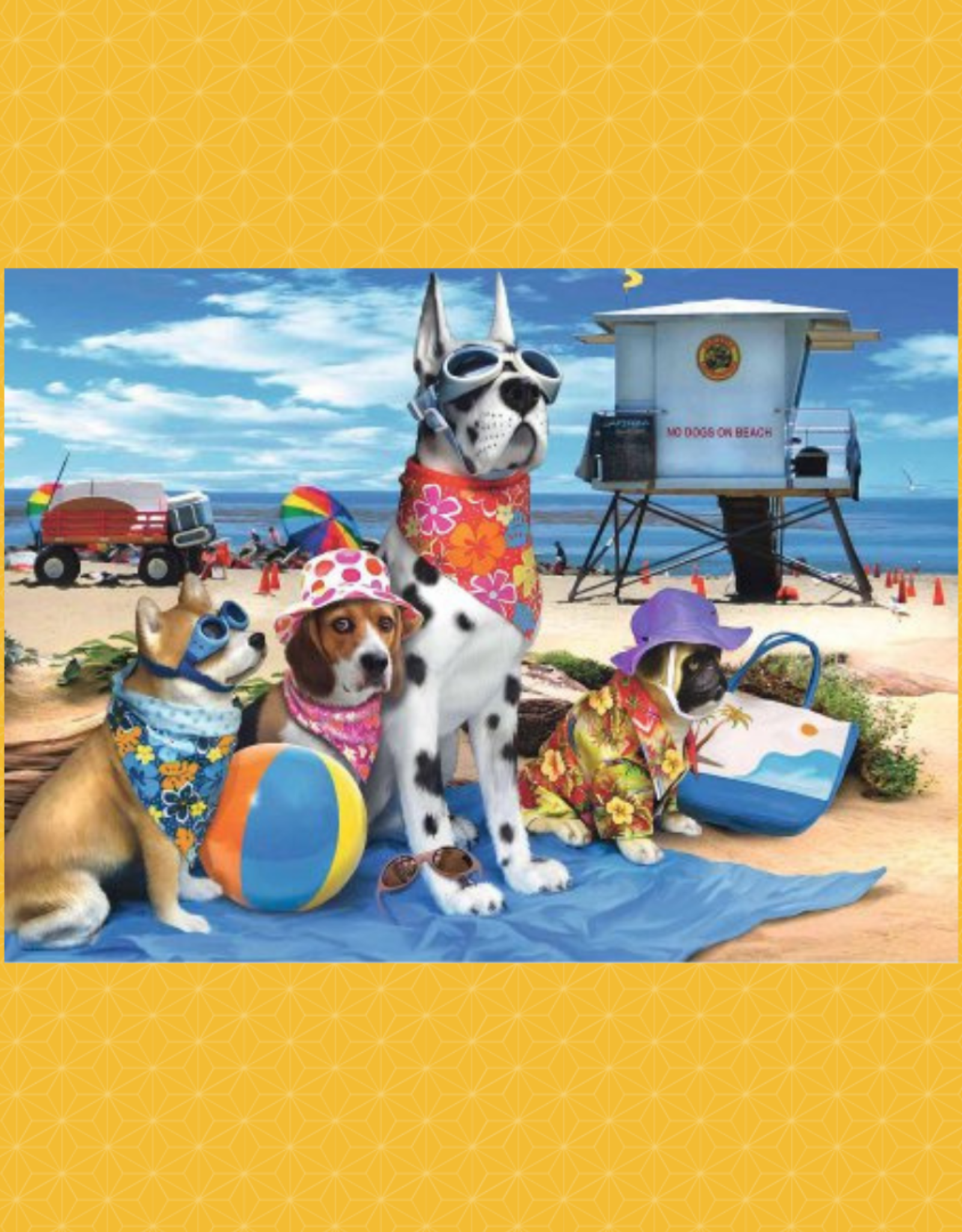 RAVENSBURGER PUZZLE 100PC RAVENSBURGER NO DOGS ON THE BEACH