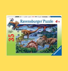 RAVENSBURGER DINOSAUR PLAYGROUND PUZZLE 35PC