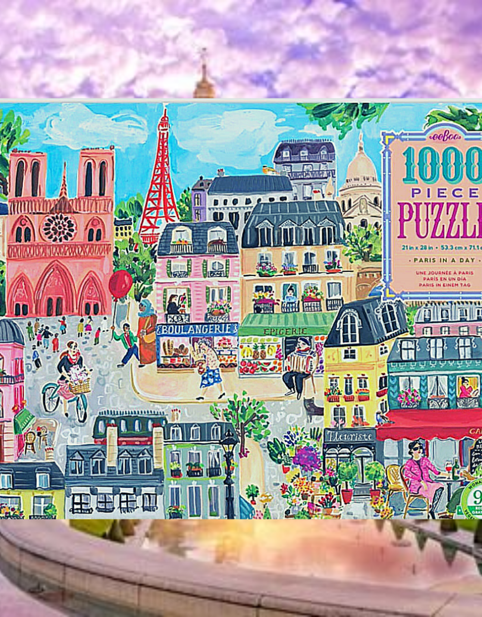 PUZZLE 1000 PC  PARIS IN A DAY