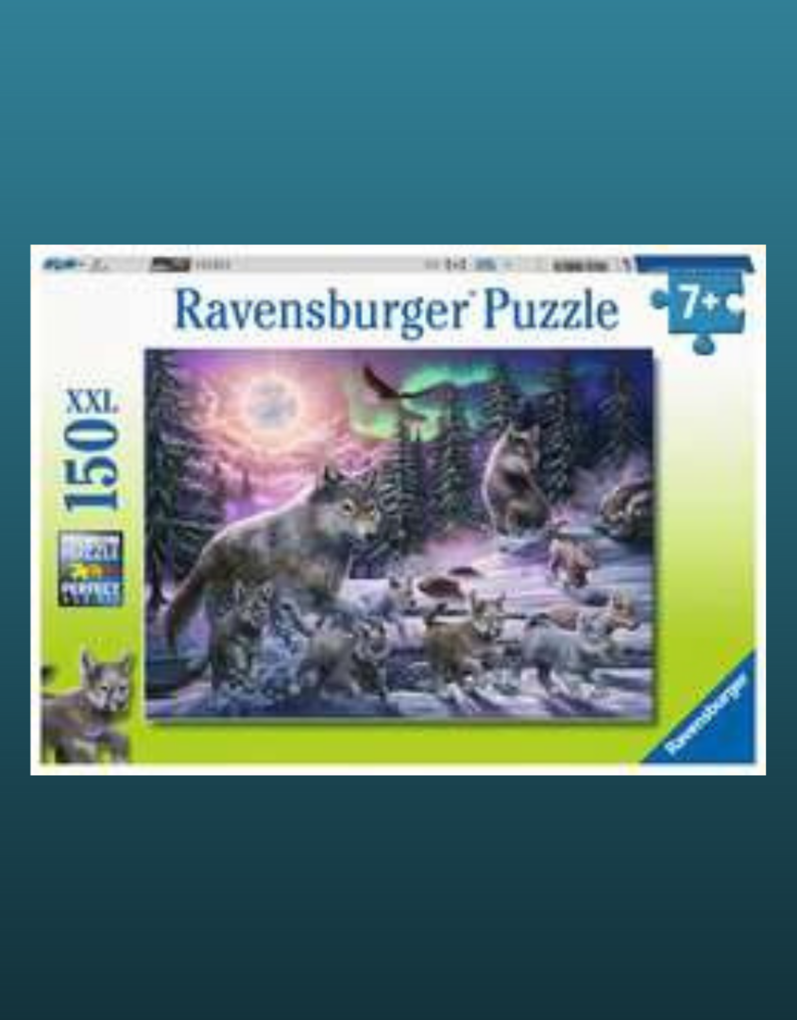RAVENSBURGER PUZZLE 100-500PC NORTHERN WOLVES