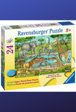 FLOOR PUZZLE 24PC RAVENSBURGER WATERING HOLE DELIGHT