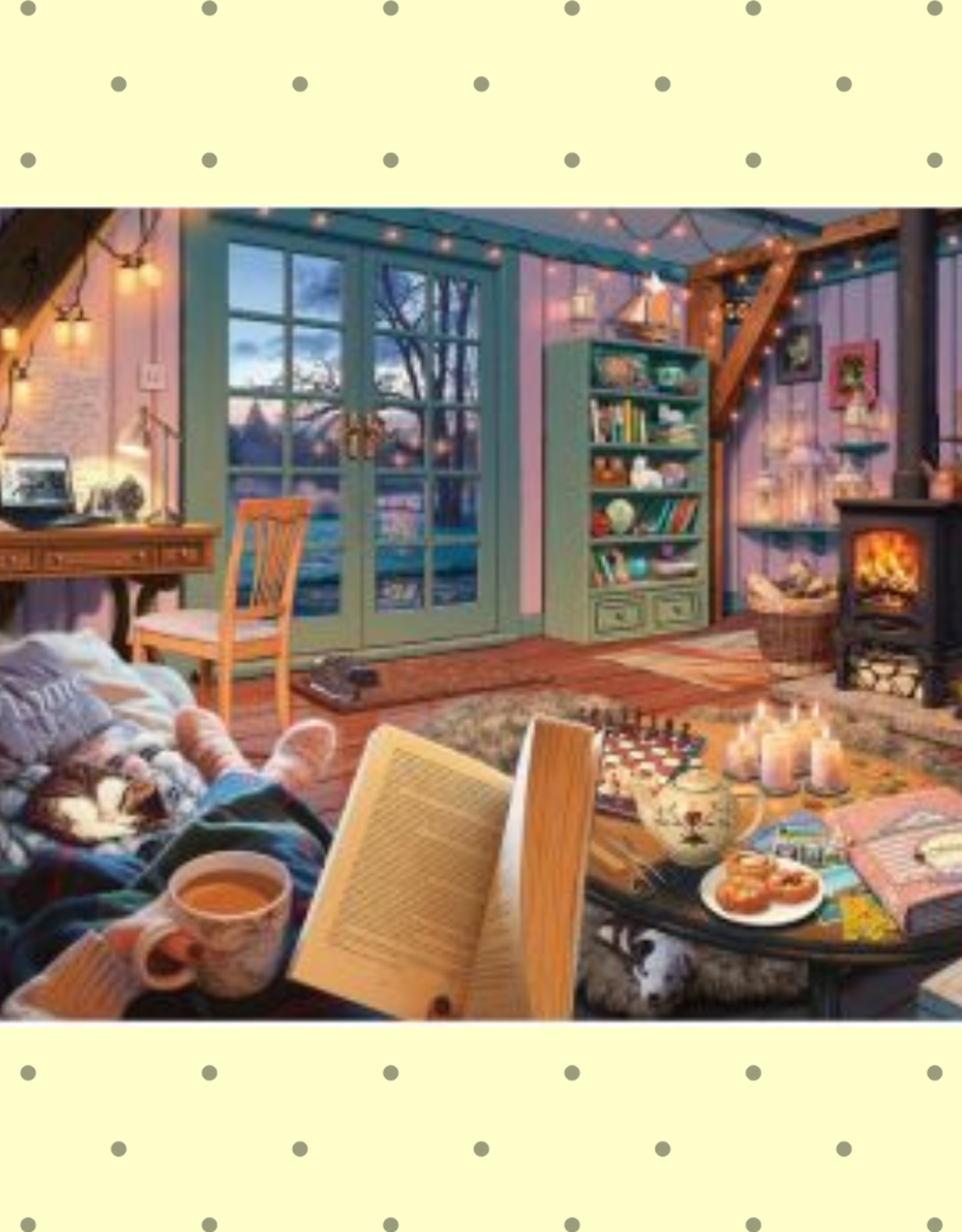 LARGE PIECE FORMAT 500PC COZY RETREAT