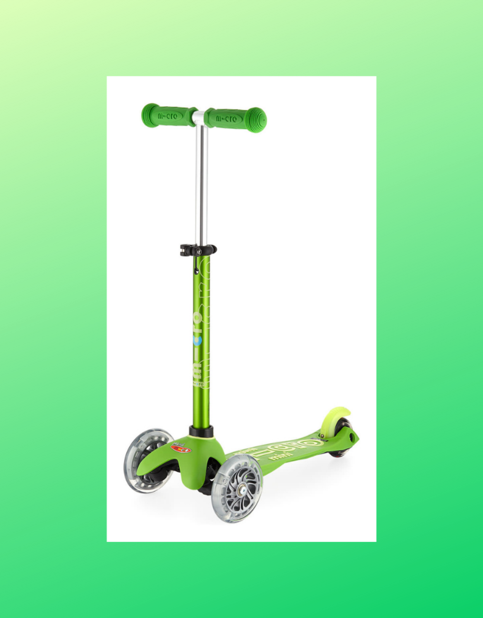 MICROSCOOTER MINI MICRO LED  GREEN SCOOTER