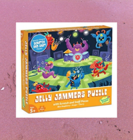 PEACEABLE KINGDOM JELLY JAMMERS PUZZLE WITH SCRATCH AND SNIFF