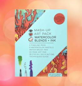 BRIGHT STRIPES MASH UP ART PACK WATER COLOR BLENDS + INK