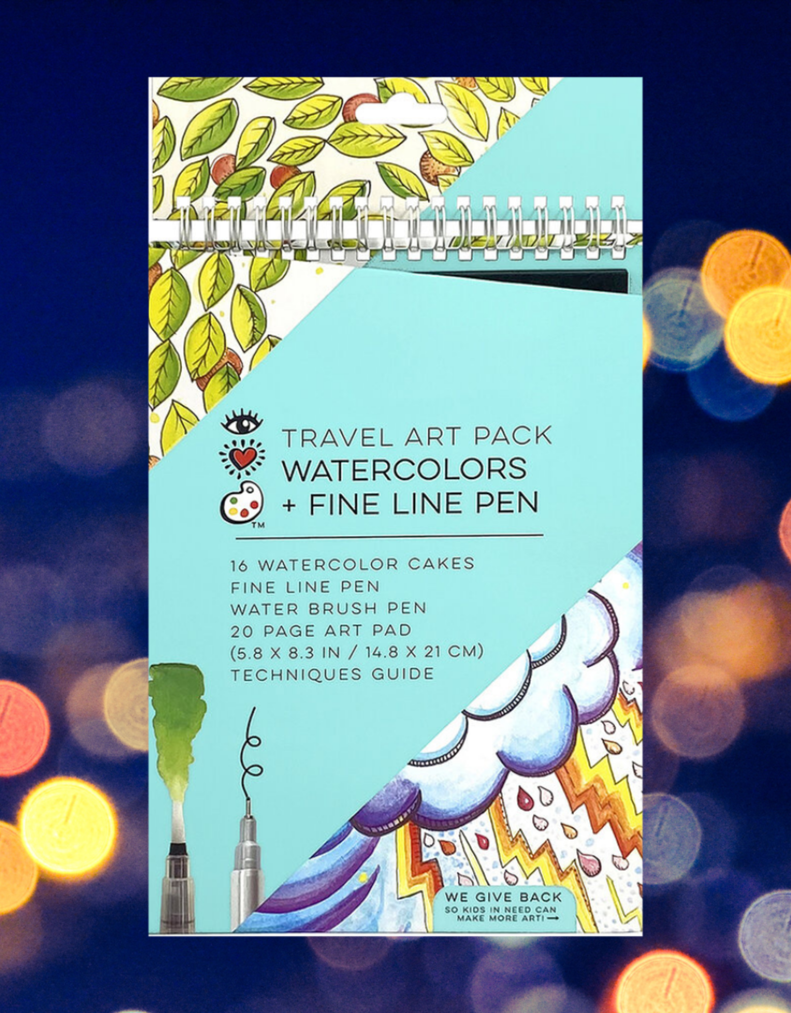 I HEART ART TRAVEL ART PACK WATERCOLORS + PEN