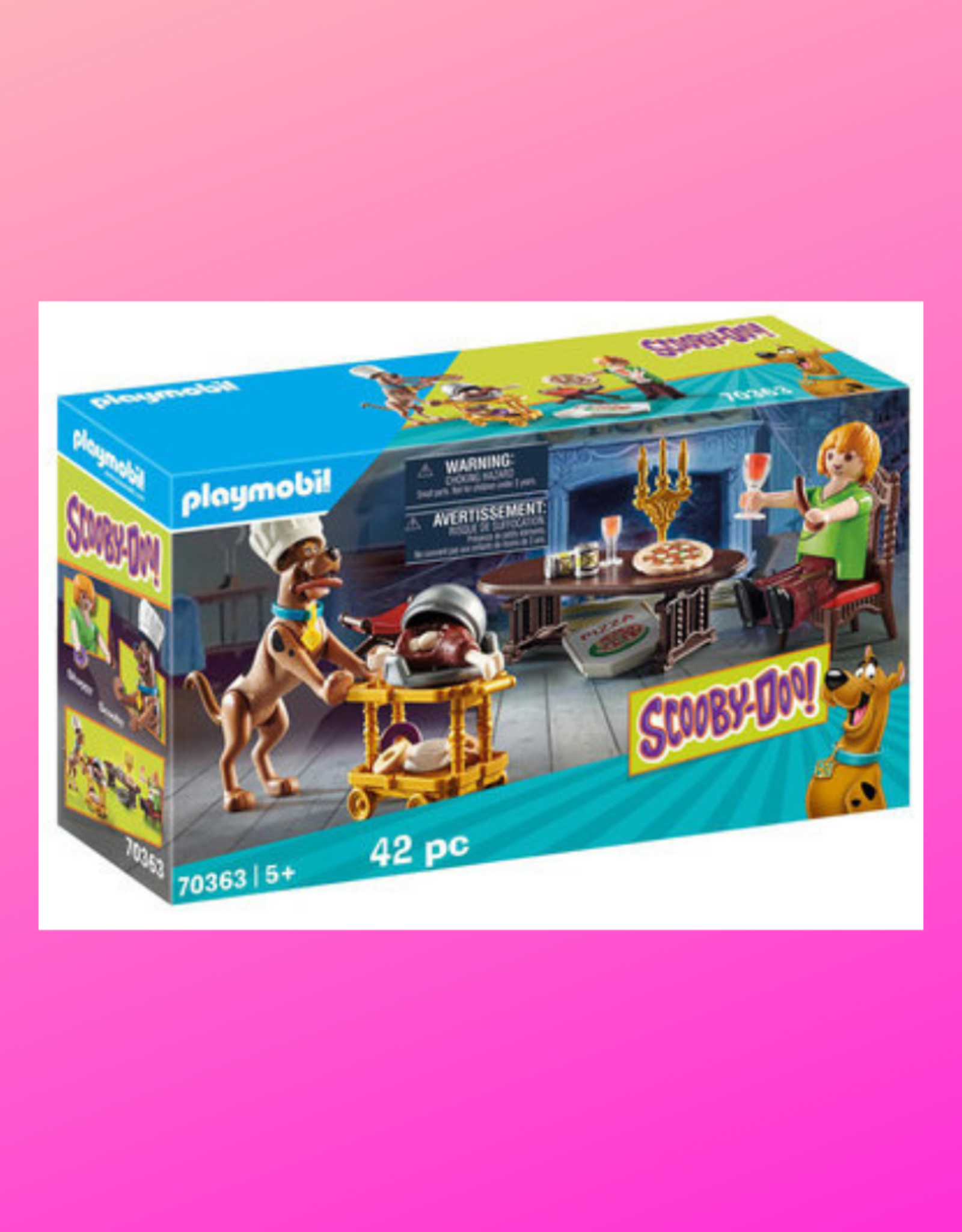 PLAYMOBIL SCOOBY DOO DINNER WITH SHAGGY