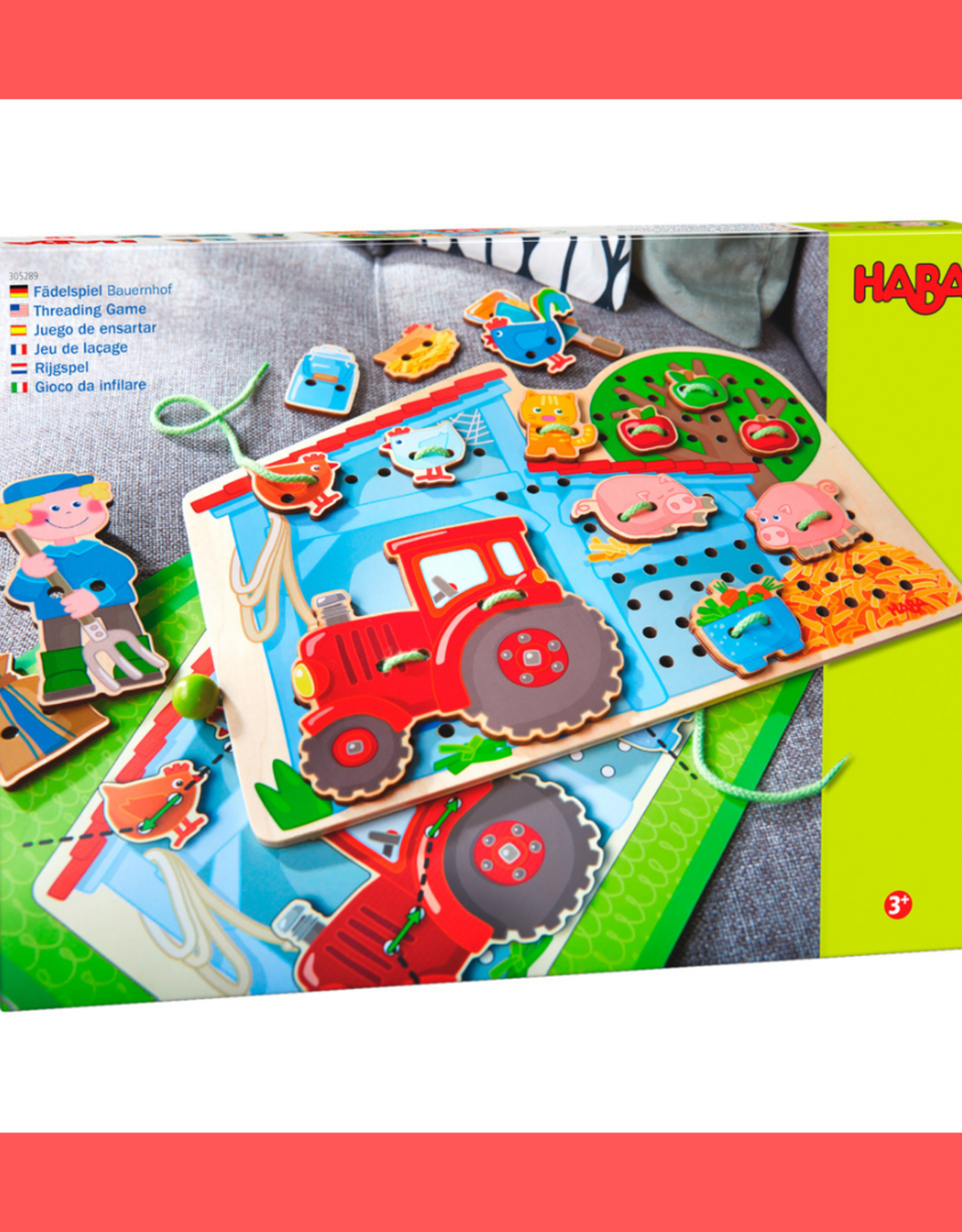 HABA FARM THREADING GAME