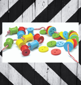ORIGINAL TOY THREADING BUTTONS & SPOOLS