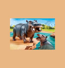 PLAYMOBIL HIPPO W CALF