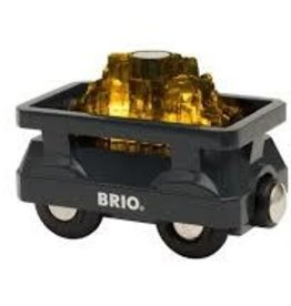 BRIO LIGHT UP GOLD WAGON