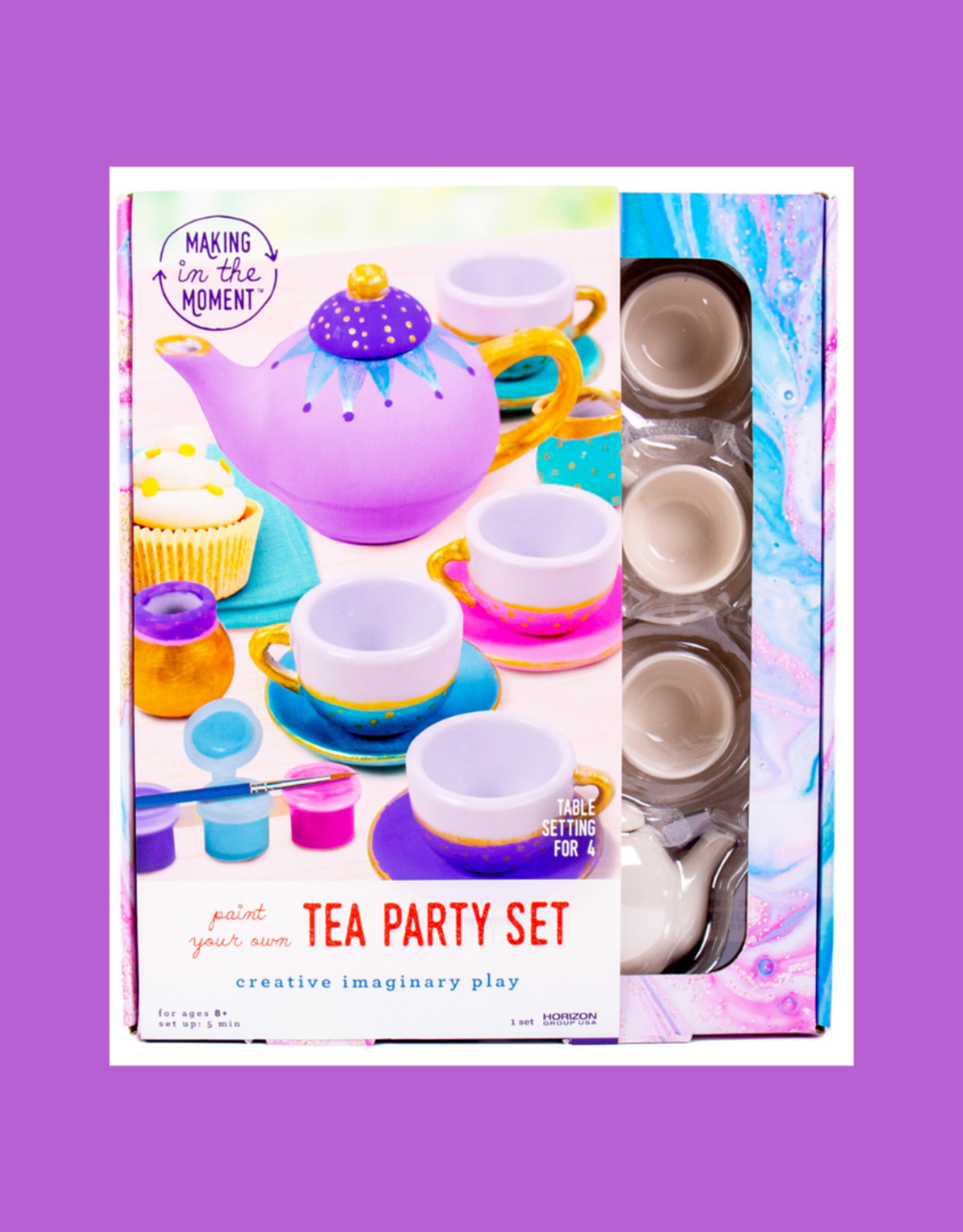 HORIZON GROUP TEA PARTY SET PAINT YOUR OWN
