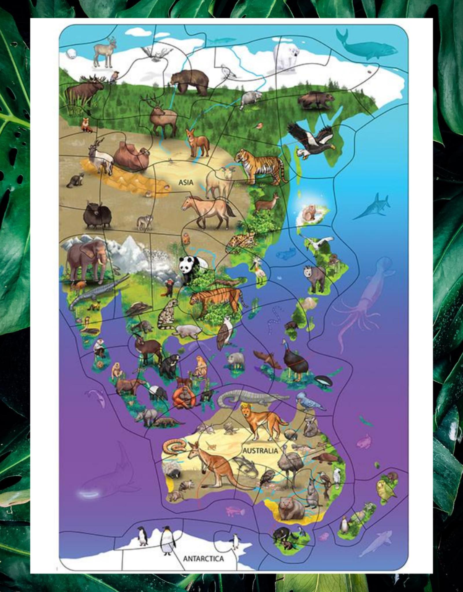 DOWLING MAGNET ASIA & AUSTRALIA WILDLIFE MAP