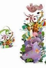 JANOD JURATOYS ANIMAL PYRAMID GIANT FLOOR PUZZLE 9 PC