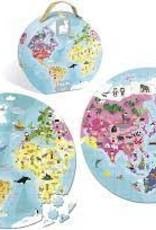 JANOD JURATOYS WORLD ROUND DOUBLE SIDED PUZZLE