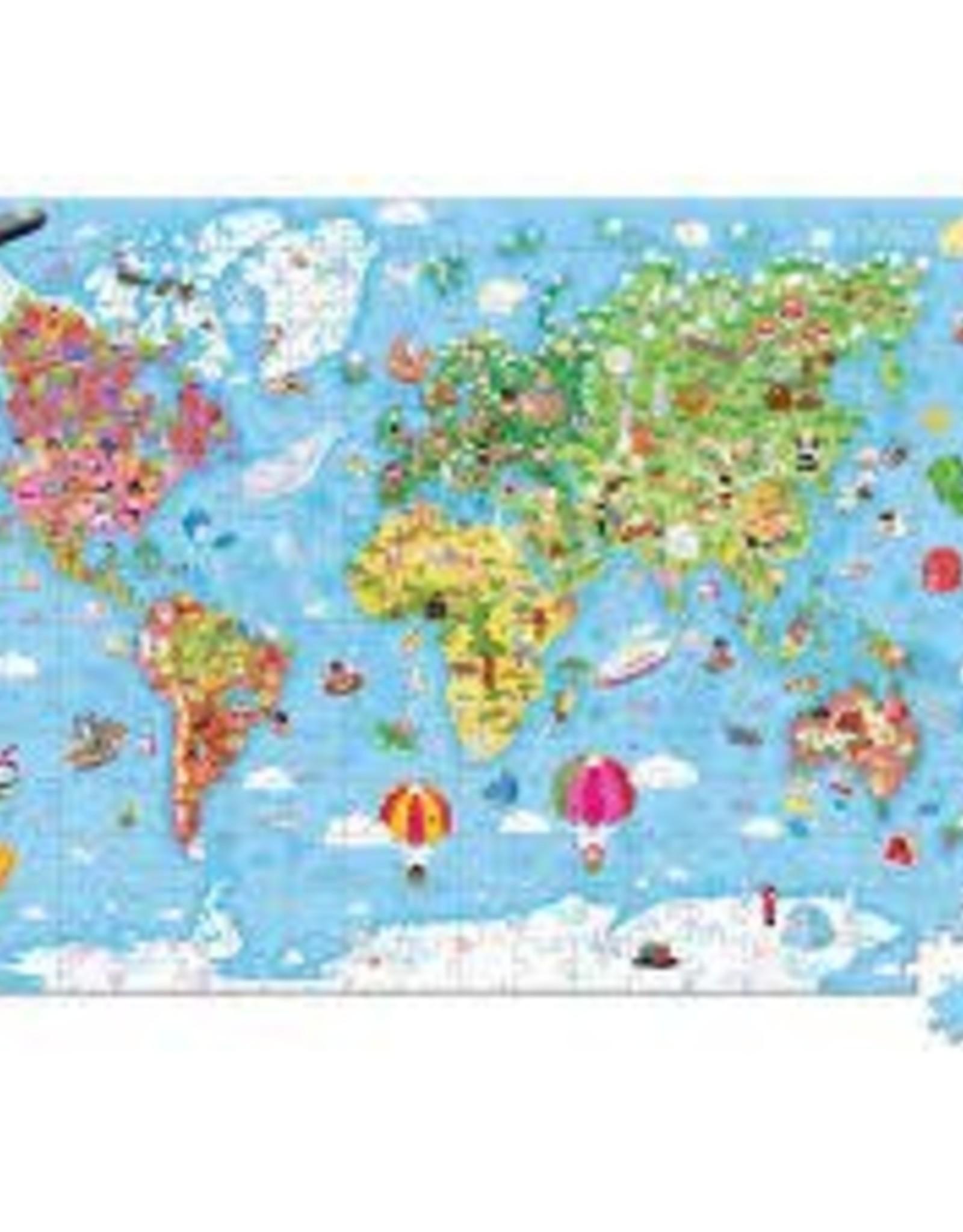 JANOD JURATOYS HAT BOXED 300 PCS GIANT PUZZLE WORLD MAP