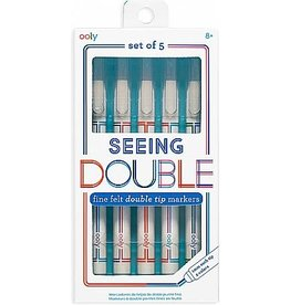 OOLY FINE FELT DOUBLE TIP MARKERS