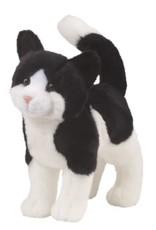 DOUGLAS CUDDLE TOY SCOOTER BLACK & WHITE CAT