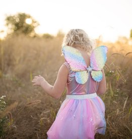 CREATIVE EDUCATION OF CANADA / GREAT PRETENDERS RAINBOW SEQUINS SKIRT, WINGS AND WAND