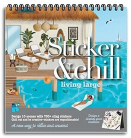 ANN WILLIAMS STICKER & CHILL LIVING LARGE