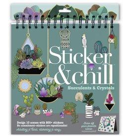 ANN WILLIAMS STICKER & CHILL SUCCULENTS & CRYSTALS