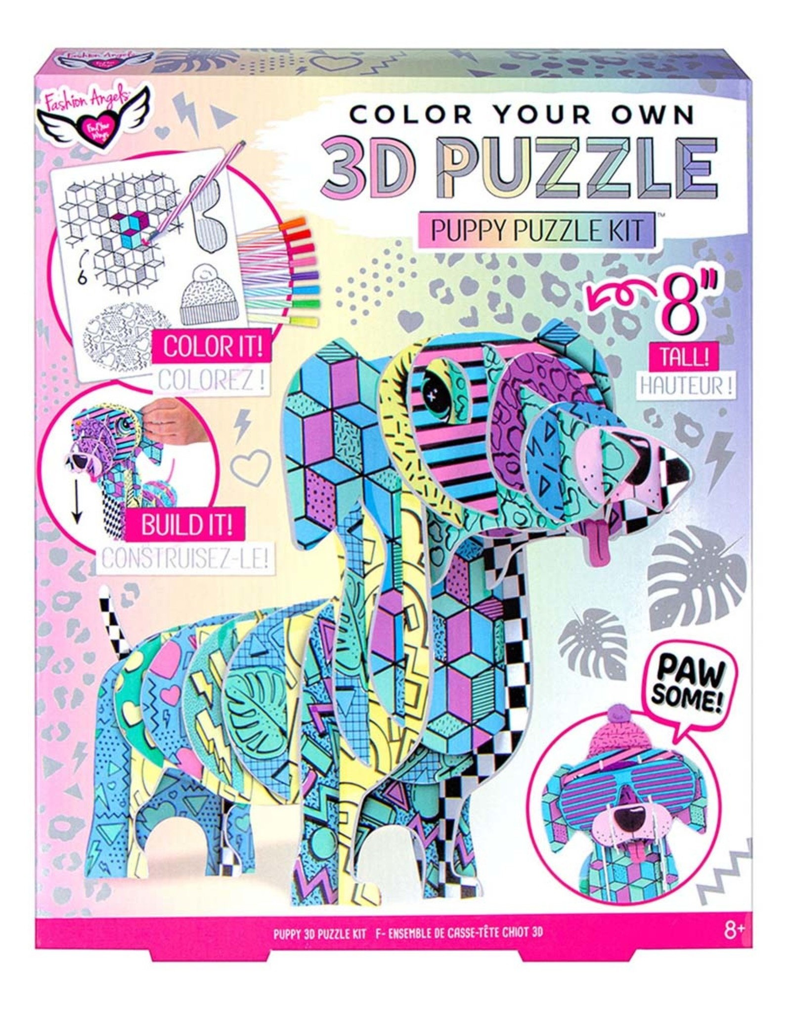 FASHION ANGELS 3D PUZZLE PUPPY COLOR THIS