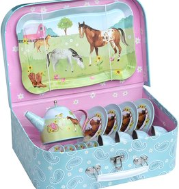 JEWELKEEPER HORSE TEA SET 15 PC