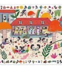 DJECO Hedgehog School 35pc Observation Jigsaw Puzzle