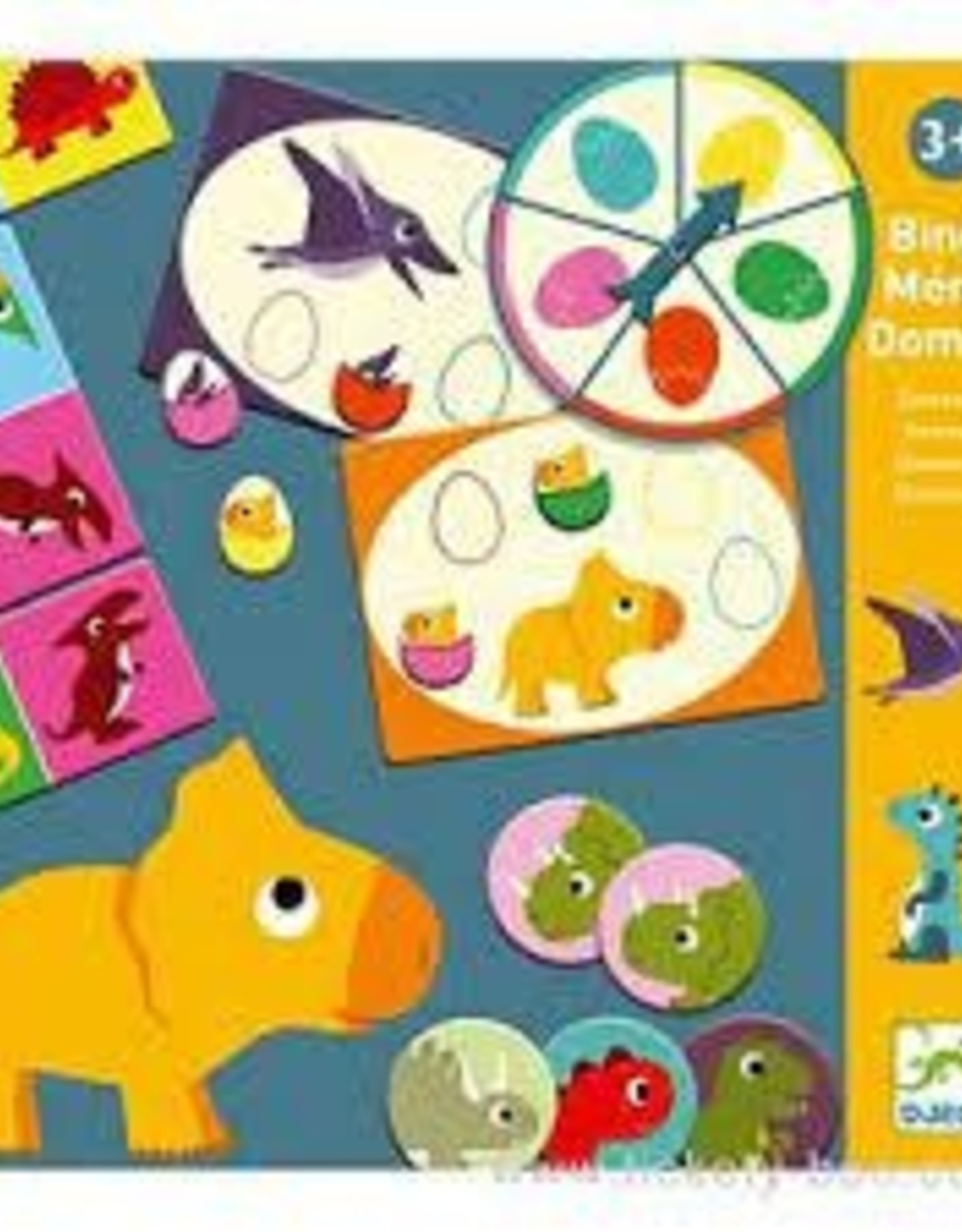 DJECO My First Games Bingo Memo Domino - Dinosaurs