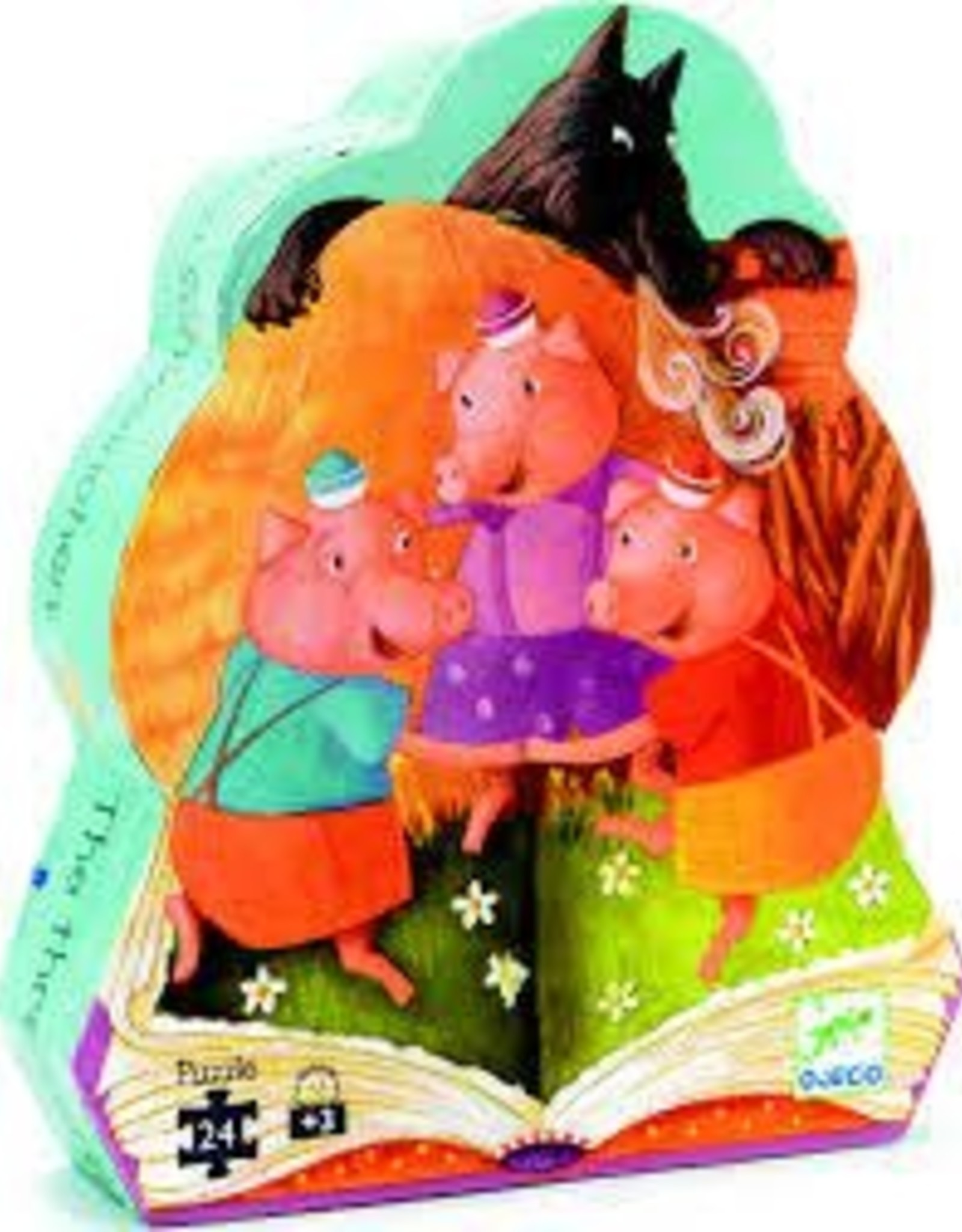 DJECO The 3 Little Pigs 24pc Jigsaw Puzzle