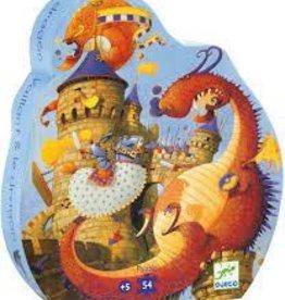 DJECO Valliant & The Dragon 54pc Jigsaw Puzzle