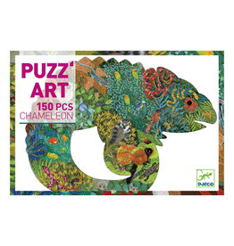 DJECO Chameleon  Puzz'Art Shaped Jigsaw Puzzle