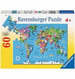 RAVENSBURGER World Map (60pc)