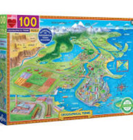 EEBOO GEOGRAPHICAL TERMS PUZZLE 100 PC