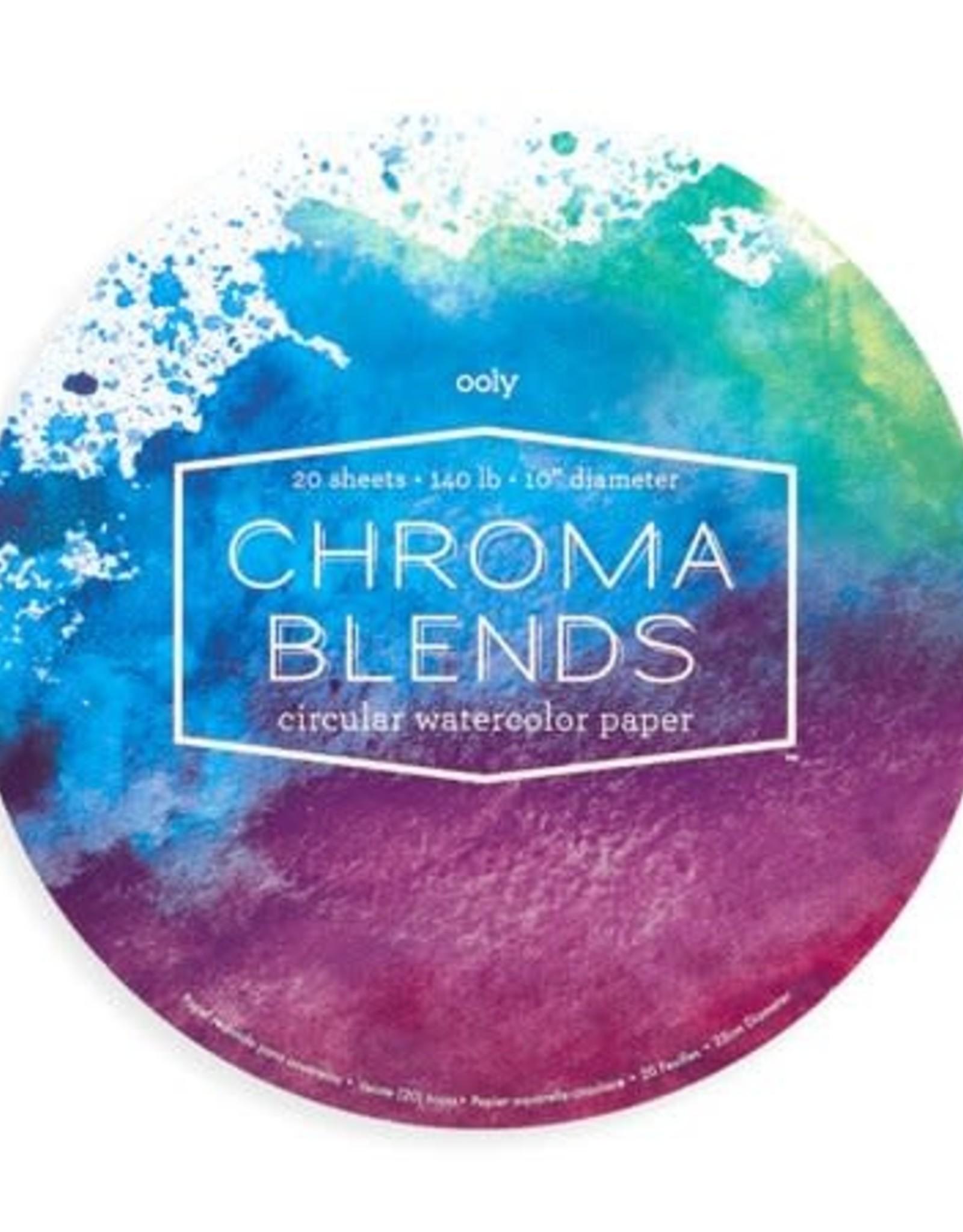 """OOLY Chroma Blends Circular Watercolor Paper Pad (10"""" Diameter)"""