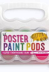 OOLY LIL POSTER PAINT PODS GLITTER & NEON