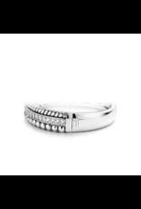 Triple Layer Textured Ti Sento Bangle Bracelet- 2776ZI