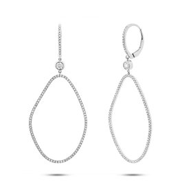14K W/G Diamond Fashion Dangle Earrings