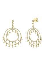 14K Yellow Gold Boho Inspired Diamond Earrings, D: 1.42cts