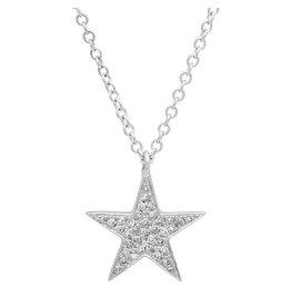 14K W/G Diamond Star Necklace