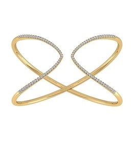 14K Y/G Flexible Diamond Cuff Bracelet