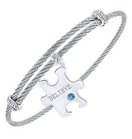 Expandable Believe Puzzle Piece Bracelet