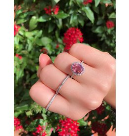 14K W/G Pink Tourmaline & Diamond Ring
