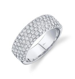 14K W/G Pave Diamond Pave Band
