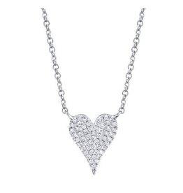14K W/G Petite Diamond Heart