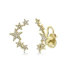 14K Y/G Diamond Star Earring Climbers
