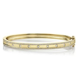 14K Y/G Diamond Bangle Bracelet