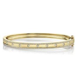 14K Y/G Diamond Bangle Bracelet