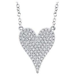 14K W/G Medium Diamond Heart